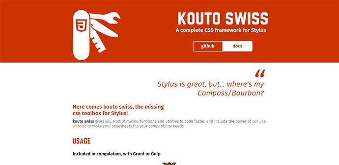 Complete CSS framework for Stylus