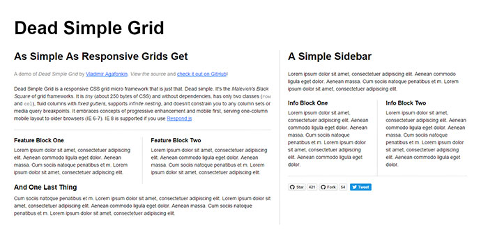 Dead Simple Grid