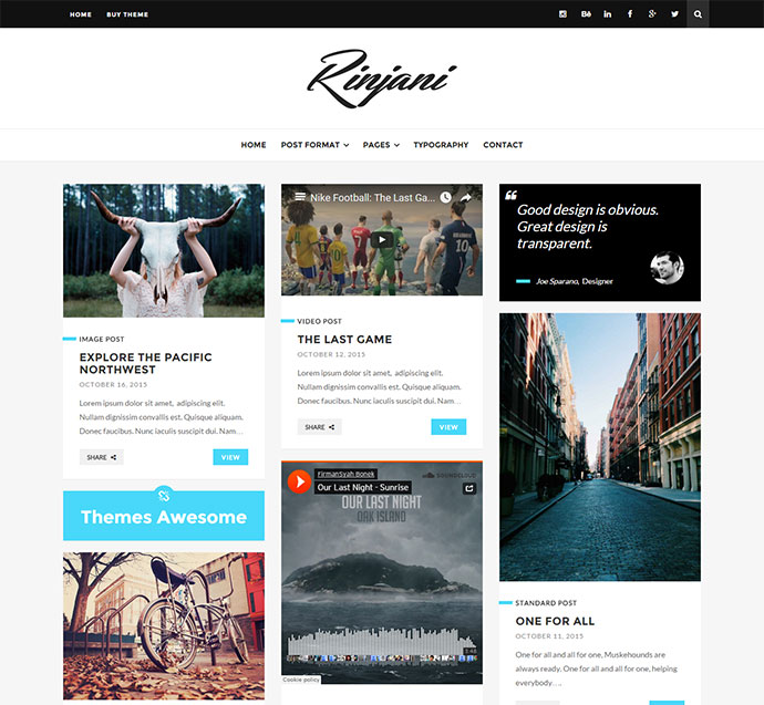 A Responsive Grid Blog Theme