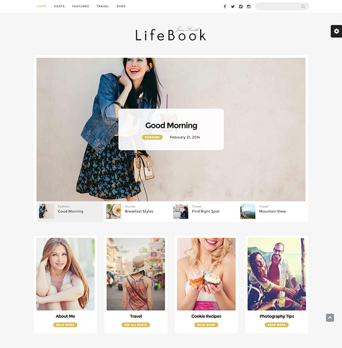 Retina-Ready WordPress theme with Modern Design