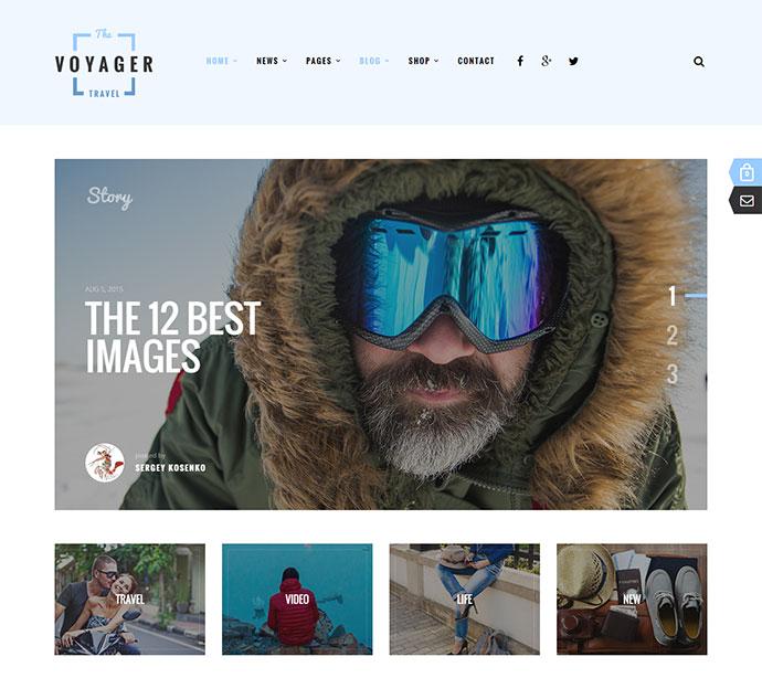 Voyager — Creative Blog WordPress Theme