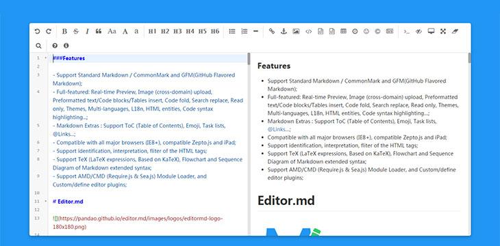 10 awesome javascript wysiwyg markdown editors web