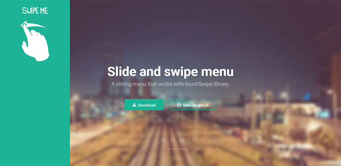 Slide and swipe menu