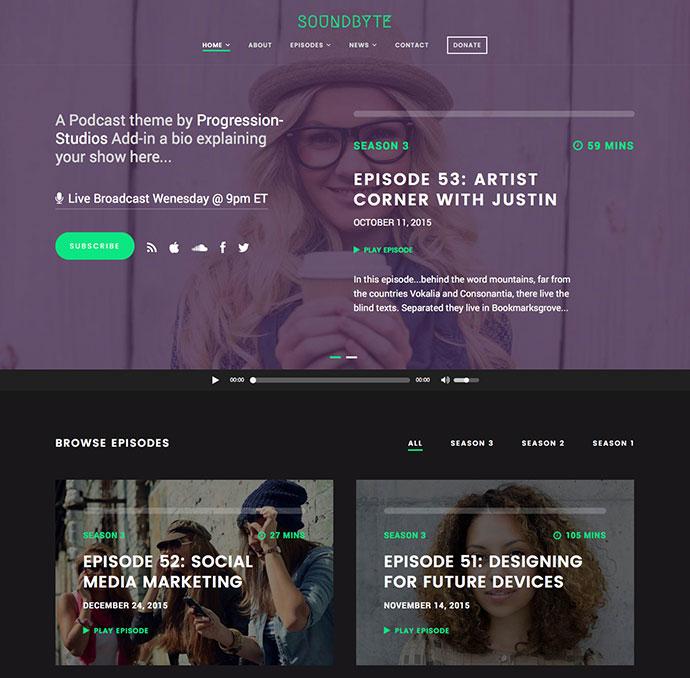 Soundbyte - Podcast/Audio Template