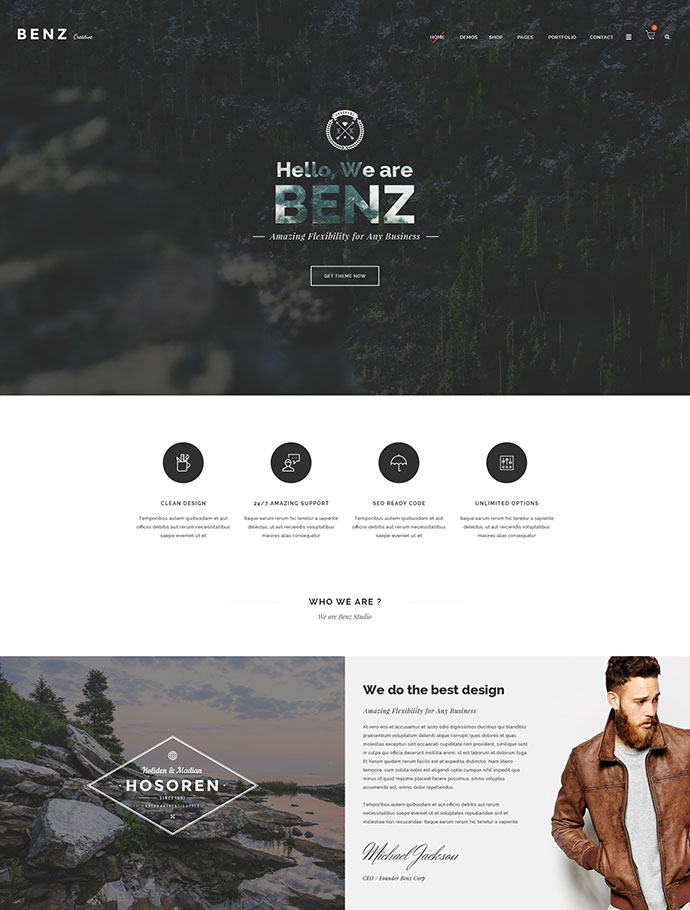 Benz - Amazing Creative Multi-Purpose HTML Template