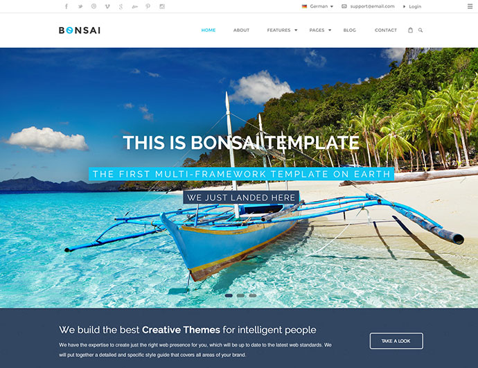 Bonsai | Multi-purpose HTML5 Template for Digital Agency