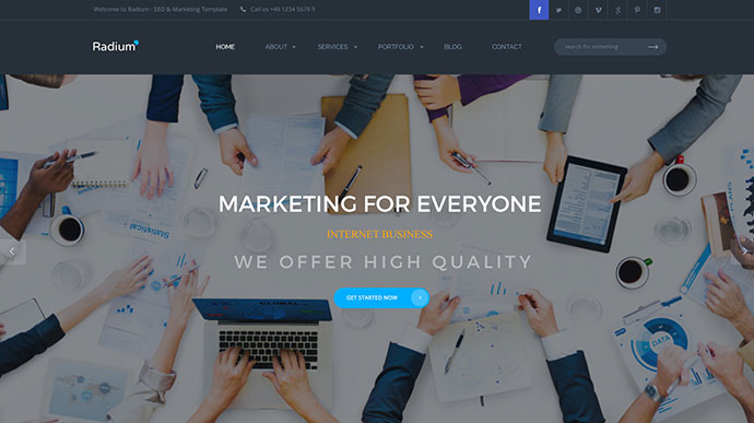Radium - SEO /Digital Agency HTML5 Template