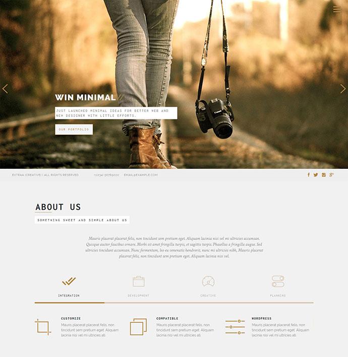Extraa - Creative Minimal HTML Template