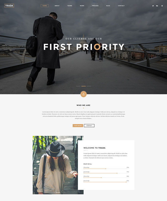 Trada - Creative Agency Multipurpose Template