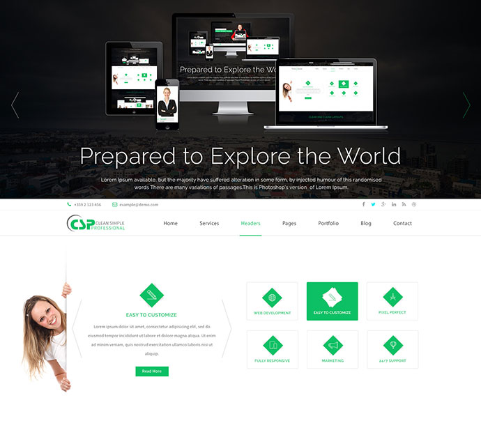 CSP Multipurpose HTML5 Template