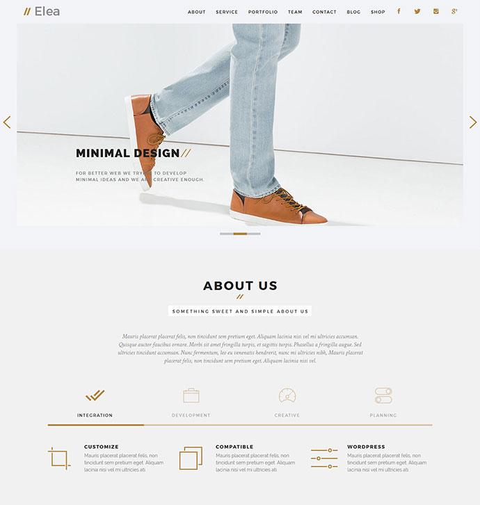 Elea - Creative Minimal HTML Template