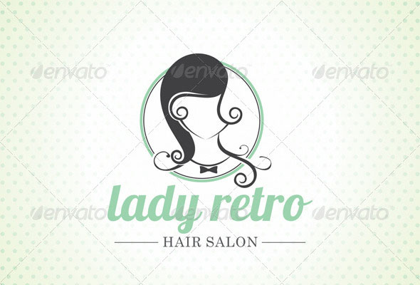 Lady Salon Logo Template