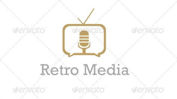 Retro Online Broadcast Logo