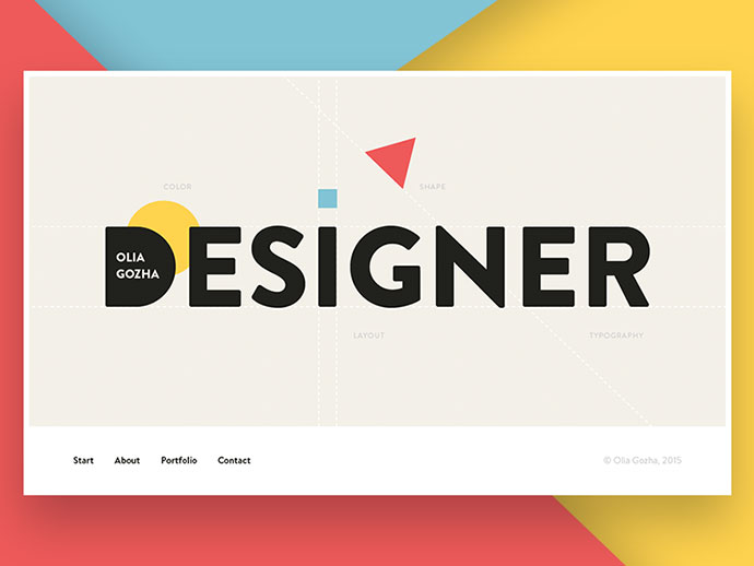 Start Screen Concept by Olia Gozha
