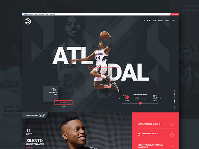 Atlanta Hawks by Jeff Corey