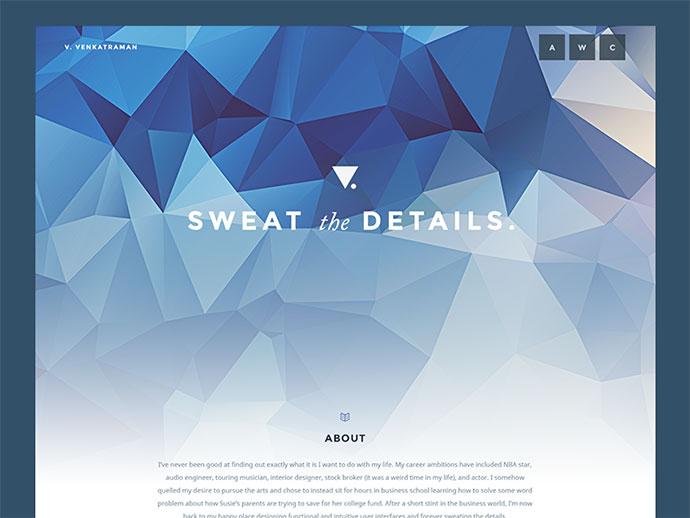 Simple Personal Page/portfolio by Vivek Venkatraman