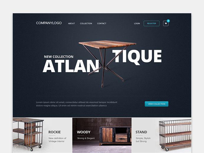 Furniture Homepage by Dwinawan Hariwijaya