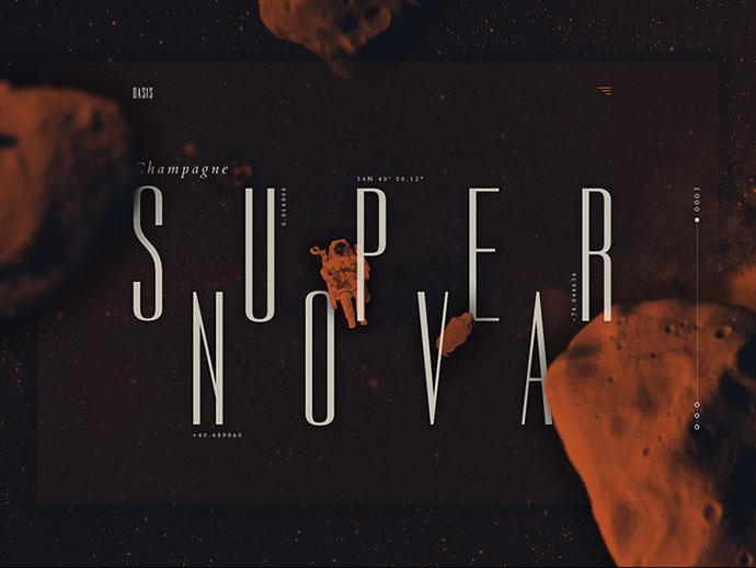 Champagne Supernova Landing - Oasis by Adrián Somoza