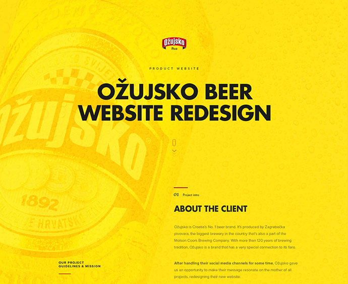 Ozujsko website redesign — case study by Mario Šestak