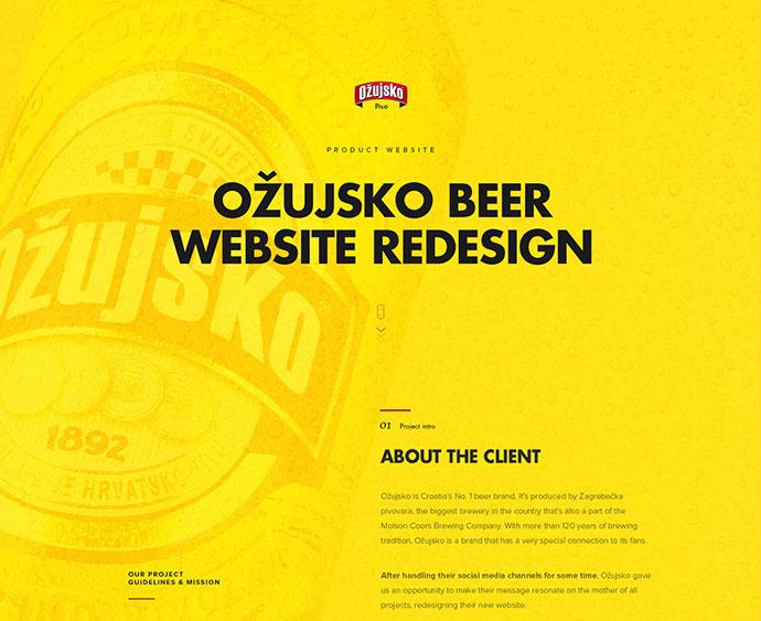 Ozujsko website redesign — case study by Mario Šestak