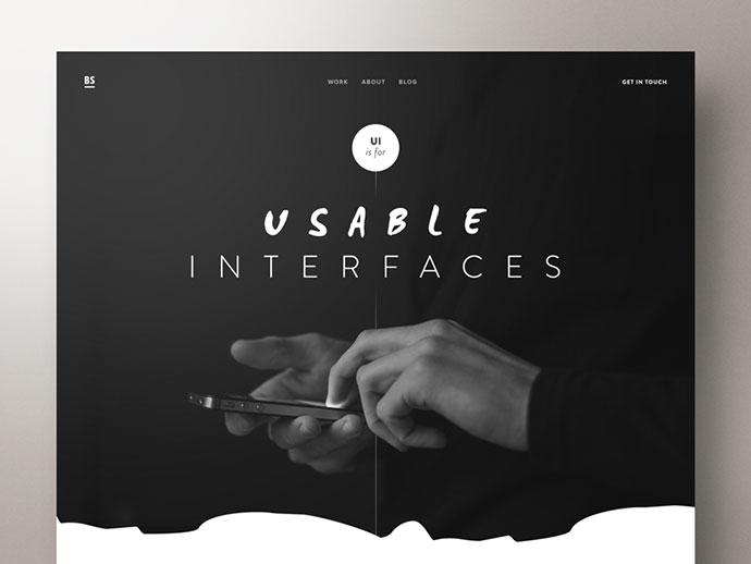 UI Designer Portfolio – Concept by Ben Schade