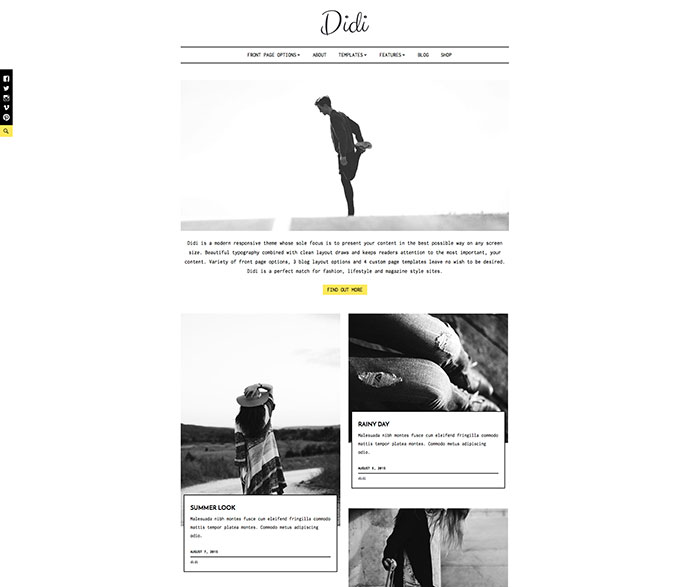 Didi Fashion Blog WordPress Theme