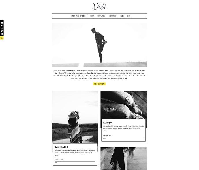 Didi Fashion Blog WordPress Theme