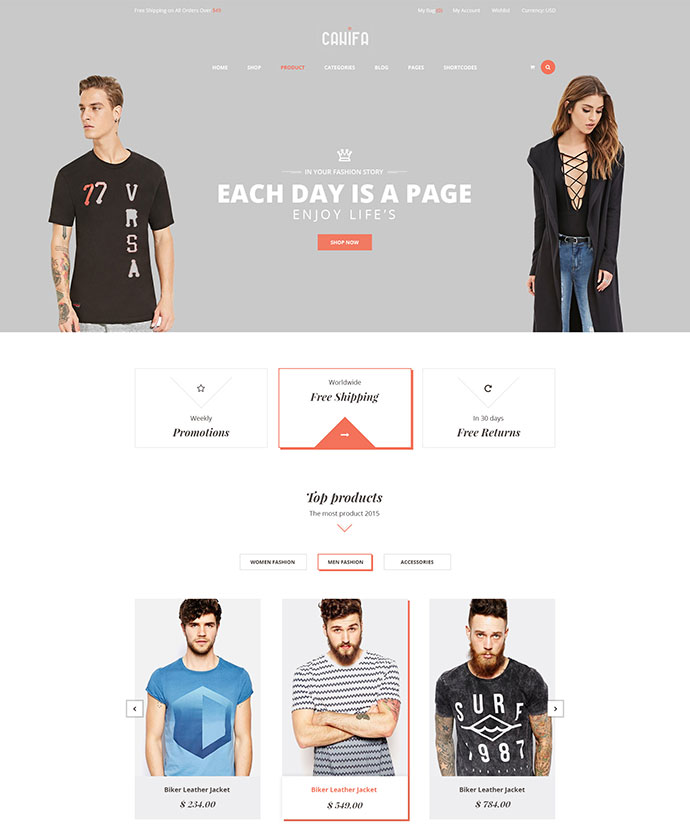 Canifa The Fashion WooCommerce WordPress Theme