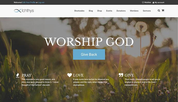 Ichthys - Church / Nonprofit / Charity WordPress Theme