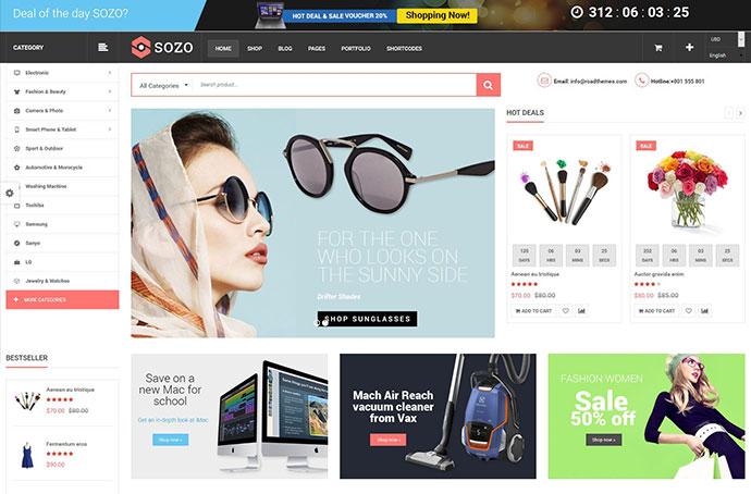 SOZO - Full Screen Mega Shop Theme