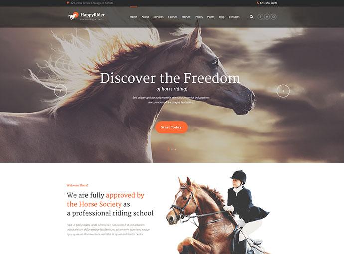 Happy Rider - Horse-Riding School WordPress Theme