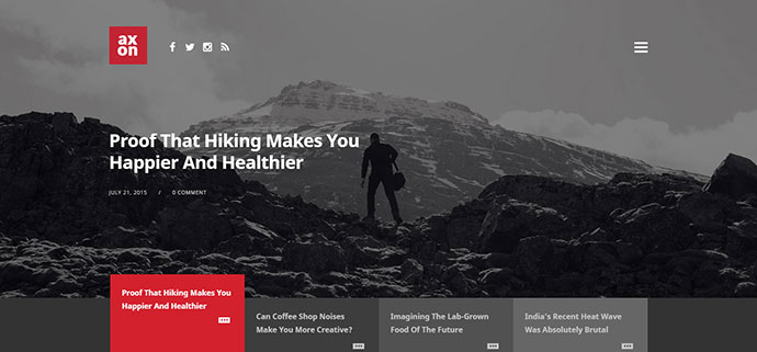 Axon - Minimalist Magazine WordPress Theme
