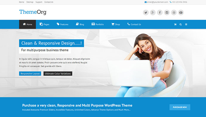 Classic - Responsive Multi-Purpose WordPress Theme