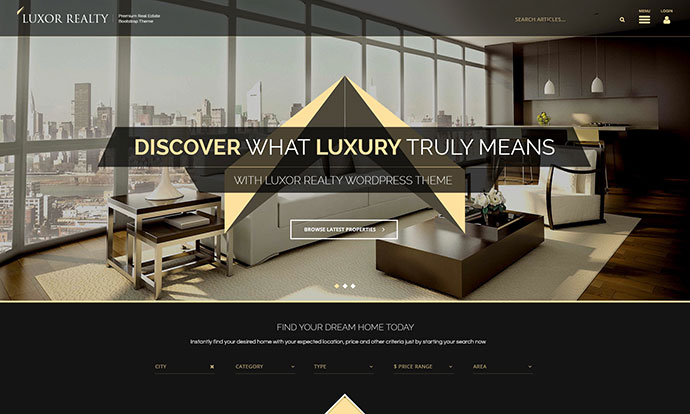 LUXOR Responsive WordPress Real Estate Theme