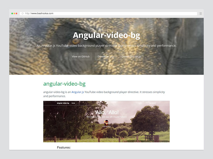 video background angularjs