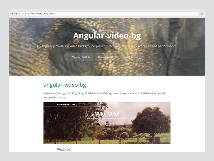 video background angularjs