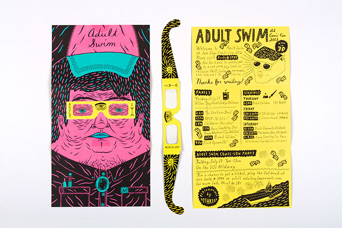 Adult Swim Comic-Con Brochure