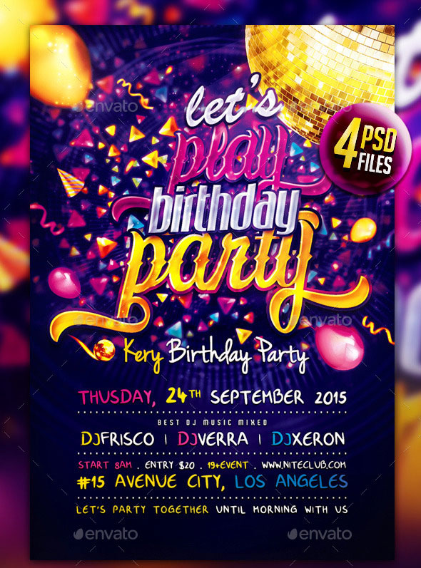 birthday party brochure template muco tadkanews co