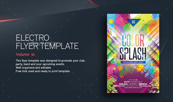 Color Splash - Flyer Template