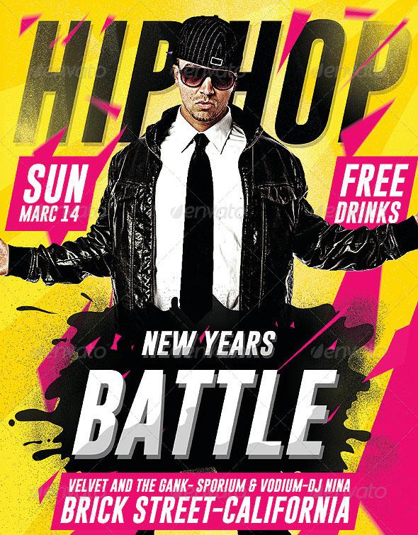 Hip Hop New Year Battle - Psd Flyer