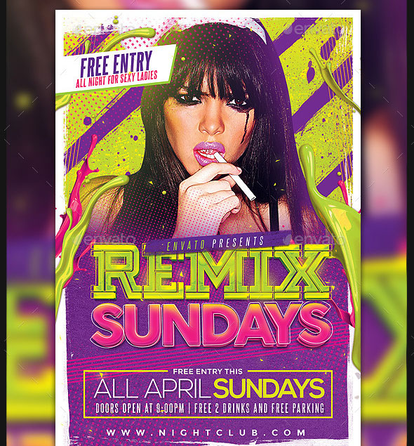Remix Sundays Party Flyer