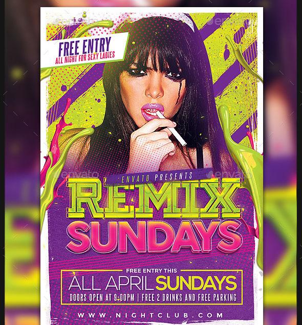 Remix Sundays Party Flyer