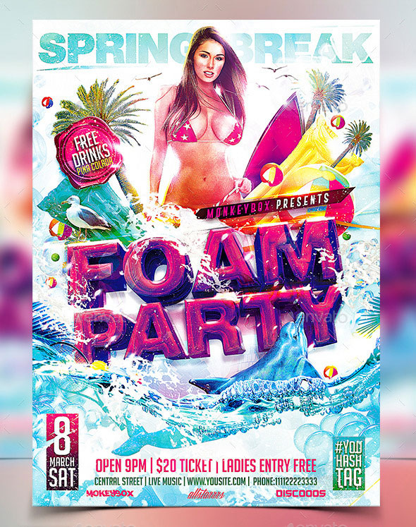 Flyer Foam Party Konnekt