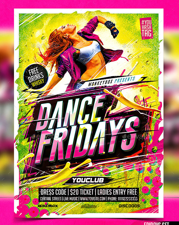 Flyer Dance Fridays Konnekt