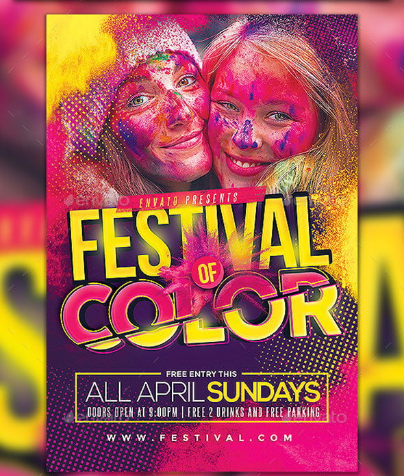 Festival of Color Event Flyer