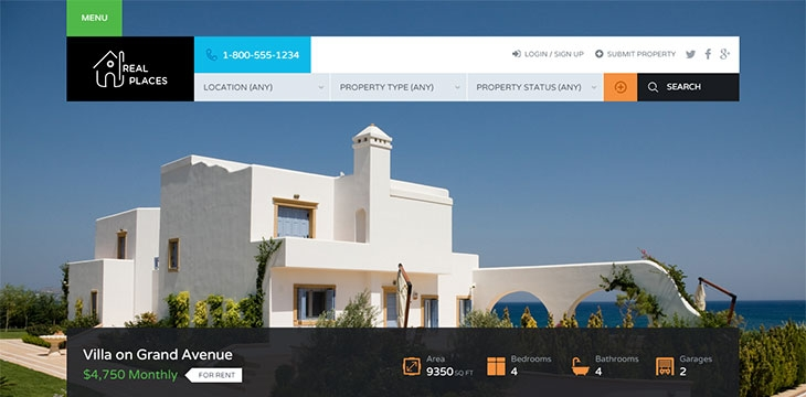 20 Beautiful & Profitable Real Estate WordPress Themes