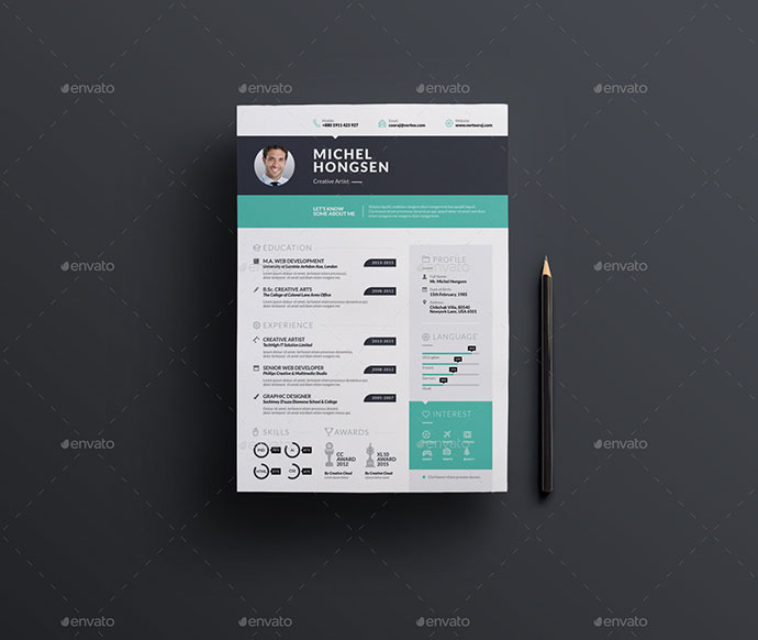 the 30 best resume templates of 2016 web graphic design