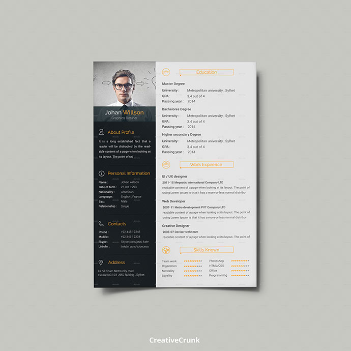 Clean and Creative CV