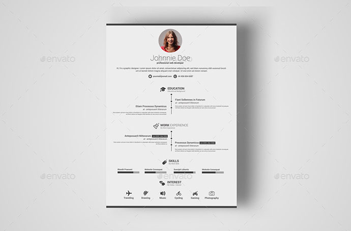 Resume Template With MS Word