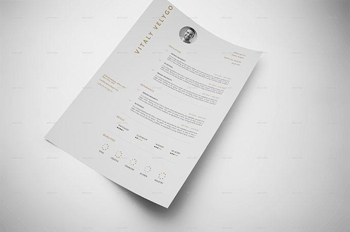 MNML CV / Minimal Clean Resume